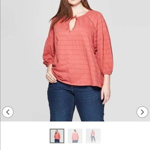 Women's Plus Size Long Sleeve V-Neck